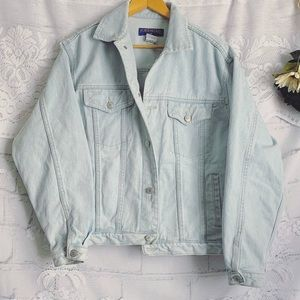 Vintage Oversized Light Wash Denim Jean Jacket